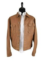 Ralph Lauren RRL Vintage Tan Leather Jacket Large Trucker | Polo Rugby |