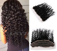 "USA Stock 13*4 Deep Wave Frontal Lace Closure Brazilian Human Hair 10""-18"""