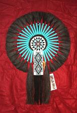"Horsehair Bustle w Beadwork Navajo Native American Indian Regalia 17x24"" #18"