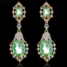 """Thompson Luxury """"Caro"""" Chandelier Ohrringe, Grün, Kristall, vergoldet UVP 49,90€"""