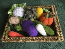 Knitted vegetables for toddler role play/harvest festival display