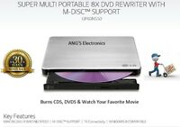 LG-USB 2.0/3.0 Ultra Slim External DVDRW Drive CDRW CD DVD Burner Writer GP60
