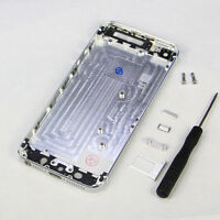 Metal Replace Silver Battery Door Housing Back Cover Case For Apple Iphone 5S