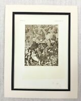 1927 Antico Stampa The Last Judgment Olandese Vecchio Master Pittura Fiammingo