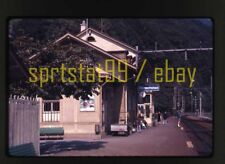 1976 Alpnachstad Train Station Switzerland - Vintage 35mm Railroad Slide
