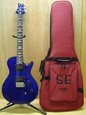 PRS SE SINGLECUT ELECTRIC GUITAR ROYAL BLUE TRANSPARENT & GIG BAG