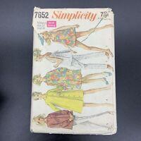 Simplicity Vintage Sewing Pattern #7652 Misses Maternity Coat Shirt Bathing Suit