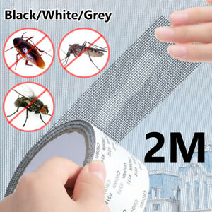 Window Screen Repair Patches Adhesive Mesh Tape Weep Hole Covers Anti Fly Bug 1x