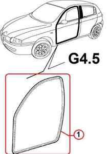 New Genuine OEM Alfa Romeo 147 Front Left Door Seal (5 Door Version) 46795547
