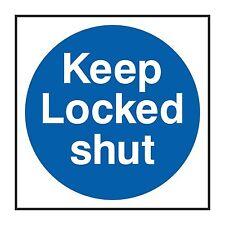 1x KEEP LOCKED SHUT Warning Sticker Decal for Door Hotel Motel Home Truck Bumper
