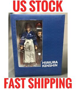 (US Stock) [Dented Box Only] GT toys Dasin BLUE Himura Kenshin PVC 1/12 7 inches
