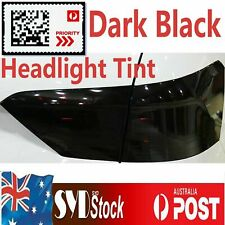Dark Black 80CM X 30CM Headlight Tint Film Fog Side Overlay Car Tinting Stickers