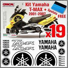 19x KIT Black YAMAHA T-MAX ADESIVI PEGATINA STICKERS AUTOCOLLANT AUFKLEBER