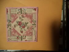 Miniature Doll Quilt-Shabby Delicate Roses-Pink Back