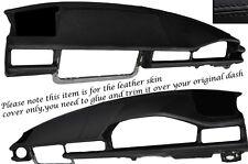 BLACK STITCH DASH DASHBOARD LEATHER SKIN COVER FITS MERCEDES E CLASS W124 83-95