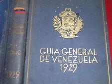 1929 ~ GUIA GENERAL DE VENEZUELA ~ 1ST.ED. / FOLD-OUT MAPS / 658 PHOTOS