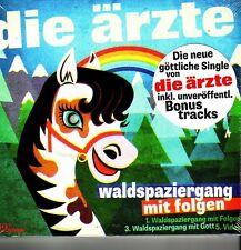 """DIE ÄRZTE """"Waldspaziergang mit Folgen"""" 3 Track  + 2 Videotrack CD Digipack"""