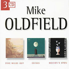 Five Miles Out/Crises/Heavens Open (3cd) by Mike Oldfield (CD, Jan-1999, Disky (Netherlands))