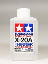 TAMIYA COLOR ACRYLIC X-20A Thinner MODEL KIT PAINT 250ml