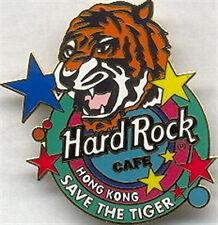 Hard Rock Cafe HONG KONG 1997 Save the Tiger PIN Endangered Species Series #1