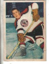 1953-54 Parkhurst Hockey Card #69 Jim Peters Chicago Black Hawks EX.