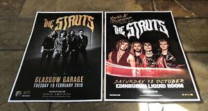 The Struts - 2 Scottish Concert/Gig posters, Glasgow & Edinburgh 2019