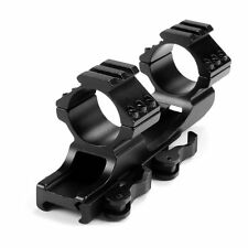 "Tactical Scope Mount QD 1""/30mm Ring 20mm Weaver Rail Cantilever For Rifle Hunt"