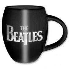 Oficial de The Beatles-Drop T & Apple en Relieve Negro Cerámica Taza Oval