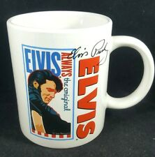 Elvis Presley Coffee Cup Mug King of Rock N Roll White Ceramic Signature Product