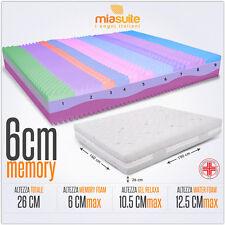MATERASSO MEMORY SFODERABILE H26 MATERASSO MATRIMONIALE 160X190CM 3 STRATI PRIME