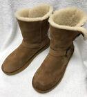 Kirkland Signature Sheepskin Shearling Buckle CHESTNUT Boots Size 10
