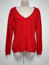F & F Ladies Jumper Sweater Pullover Pure 100% Cashmere Red UK 16 / EU 44