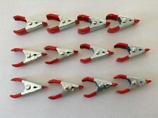 "New 12PC 2"" Steel Spring Clamps Metal, Rubber Tips Set   * US SHIPPER *"