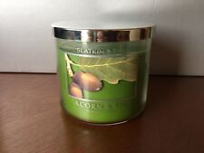 RARE Acorn & Fig Bath and Body Works NEW 3-wick 14.5 oz Candle