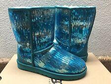 UGG CLASSIC SHORT SPARKLES MARINE BLUE US 7 / EU 38 / UK 5.5 - NEW