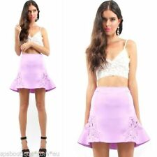 Regular Size Floral Above Knee Mini Skirts for Women