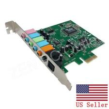 PCI-E PCI Express 8 Channel 7.1 SPDIF Audio Sound Card US Stock