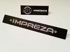 [SR] Black Front License Plate Delete with [Impreza] Fill Laser Engraved Logo