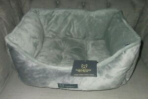 Nandog grey plush velour dog bed  used once bought too big for my little dog