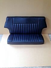 Early Rear Seat Base Cover in Black Leather//Vinyl For London Taxi FX4 FHM154