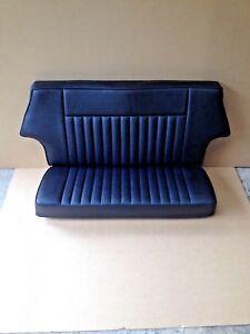 CLASSIC MINI REAR SEAT COVER BLACK / BLACK PIPING
