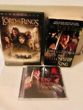 The Lord of the Rings: Fellowship of the Ring Pt 1 Dvd/Paperback/Cd Lot of 3