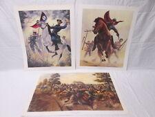 James Thomas Neumann Civil War Prints First Manassas Battle and 2 Generals 81&82