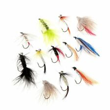 Sougayilang Fly Hook Fishing/ Fishing Lure with Feather Angling 12 Pieces K1E2