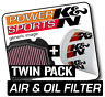 YAMAHA YFM600 Grizzly 600 1998-2001 K&N KN Air & Oil Filters Twin Pack! ATV