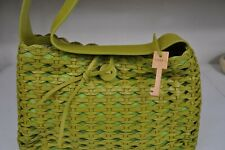 FOSSIL WOVEN BAG HANDCRAFTED GENUINE LEATHER PRODUCT 75082 NEW