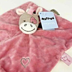 NATTOU Unicorn Pink Comforter, Security Blanket, Lovey, Soft Plush Toy | NWT