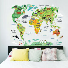 Animal World Map Removable Decal Art Mural Home Decor Wall Stickers On Sale