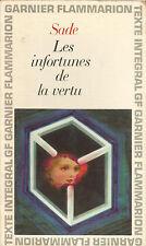 Marquis De Sade -Les Infortunes de La Vertu -GARNIER-FLAMMARION Paperback,1969)