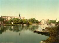 The Castle of Dessau, Anhalt, 1890's, Vintage German Photography Poster